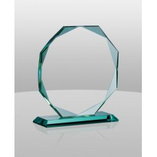 G173 Jade Glass Octagon Award